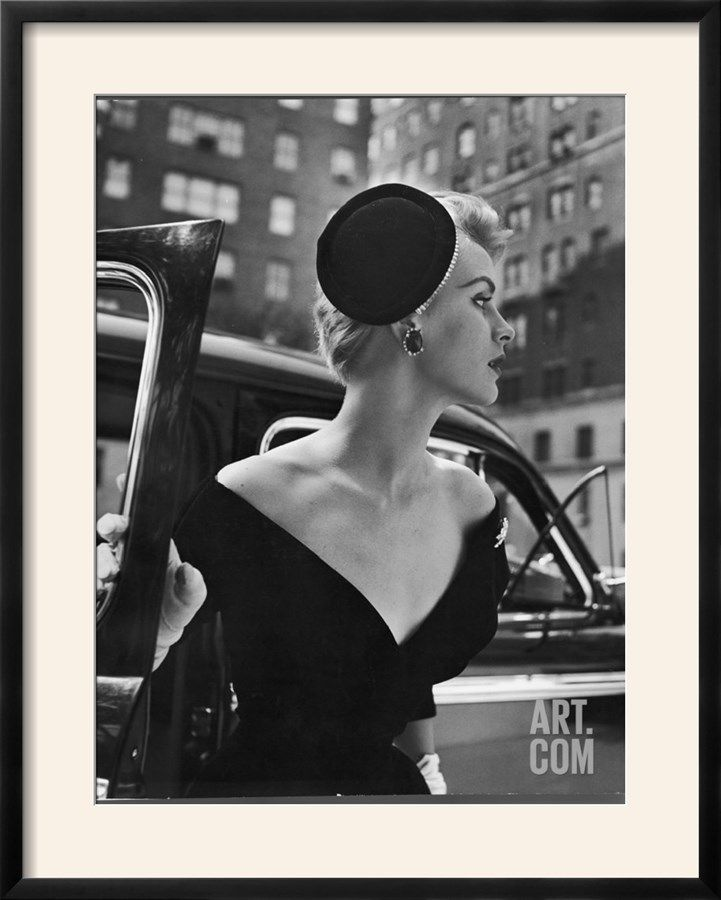 Jeweled Stay Put Cocktail Hat at Reckless Angle Photographic Print by Nina Leen at Art.com