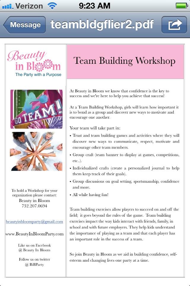 Team building workshops <3