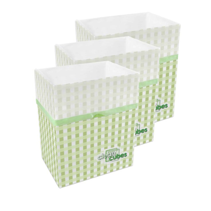 These are attractive, disposable trash and recycle bins. Their dual-purpose design is comprised of a durable paper bin lined with a leak-resistant plastic trash bag that makes trash disposal a snap.