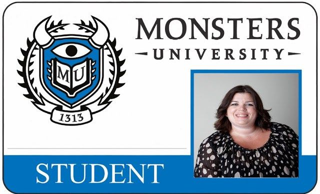Monsters University lunchtime table student i.d. card
