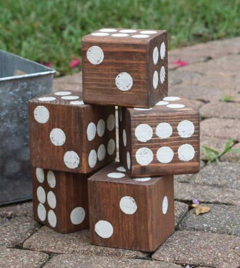 If you're a game fanatic, then this DIY wood project will get you excited. For a fun outside game, try making this Giant Wooden DIY Lawn Dice.