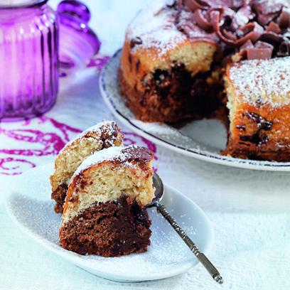 Συνταγή για κέικ βανίλια, σοκολάτα πραλίνα από την Αργυρώ Μπαρμπαρίγου
