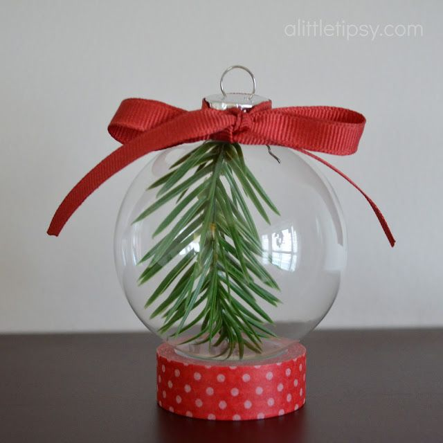 diy christmas ornament by a little tipsy SEEMS LIKE A COOL THING TO DO AS A KEEPSAKE FOR OUR FAMILY FIRST REAL TREE.
