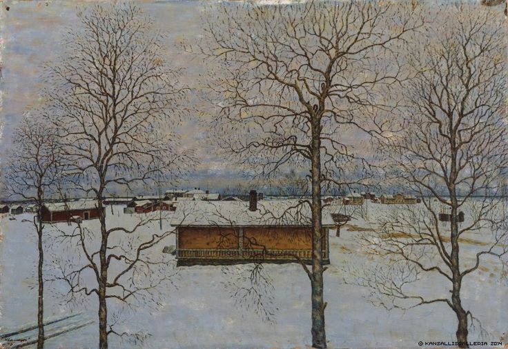 Finnish National Gallery - Art Collections - Winter Landscape by Vilho Lampi