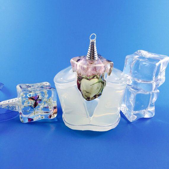 Colgante cubo de hielo claro silicona moldear crear su propia