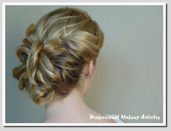 Hair, Updo, Professional makeup artistry