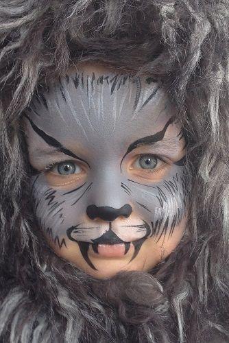 wolf face paint - Google zoeken #HowtoFacePaint