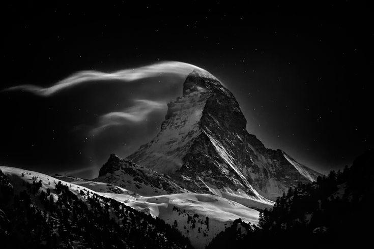The Matterhorn, 4478 meters at full moon
