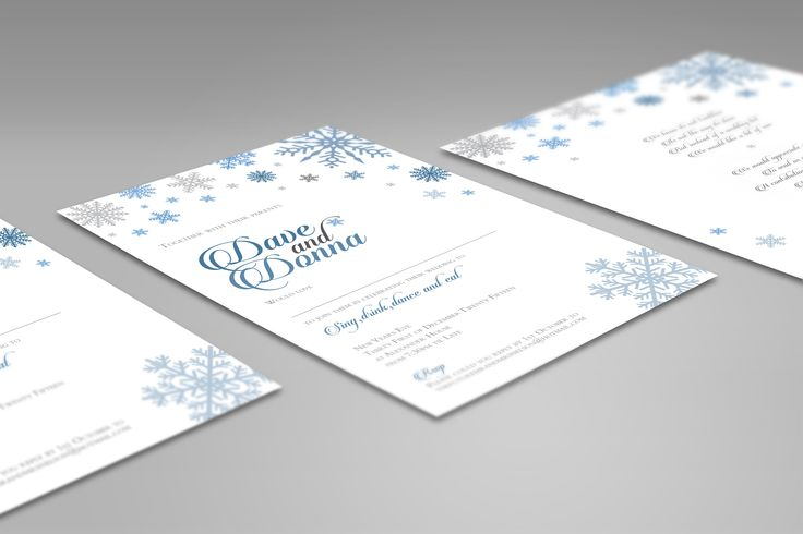 Winter themed wedding stationery designed for a new years eve wedding. The colours were carefully chosen to match the other elements of the day. These were printed onto a metallic silvery polar pearl card.