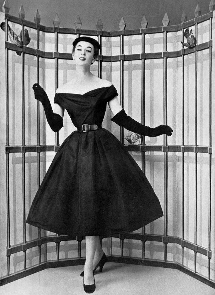 Christian Dior, photo by Philippe Pottier , 1954