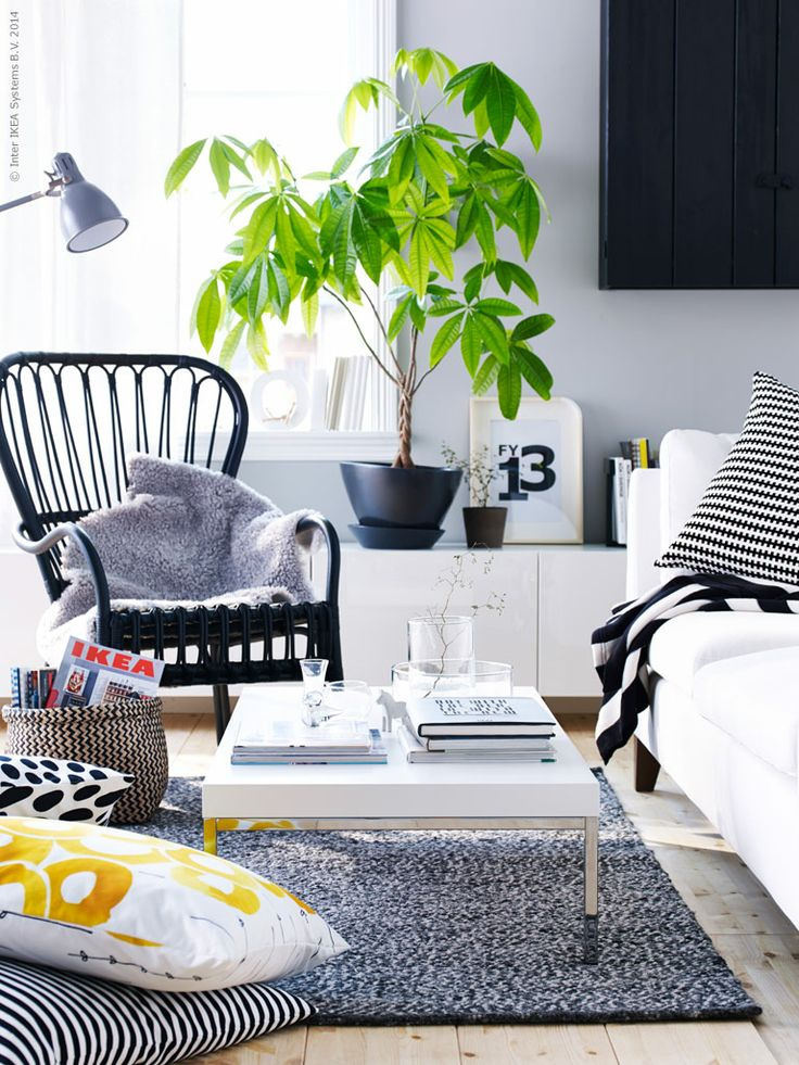 This is nice. Grey, white and black and a green plant. If I had the space for the STORSELE chair, I would buy it immediately. Have loved it since it was introduced.