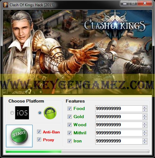 Are you looking for Clash Of Kings Hack? If the answer is YES, you've got in the right place. Reading this article, you'll find out how to add as many Food, Gold, Wood, Mithril and Iron you want with Clash Of Kings Hack Tool to upgrade your game account in Clash Of Kings game.