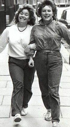 Dawn French & Jennifer Saunders, circa 1985 Comedy gold!