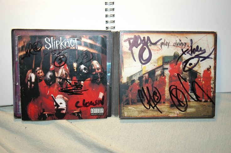 Fully Signed Slipknot Album by sic-maggot-slipknot on DeviantArt