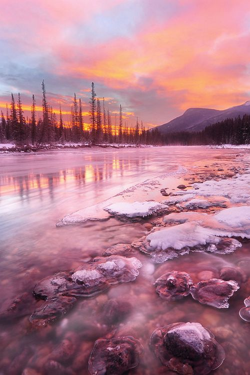 The red moment, Banff National Park, Canada, by Victor Liu, on 500px.