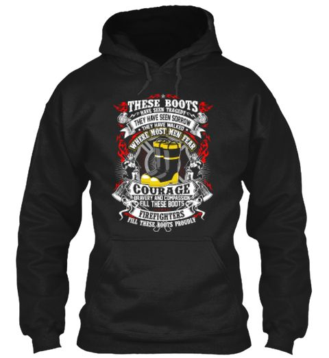 Firefighters Boots Tragedy Black Sweatshirt Front