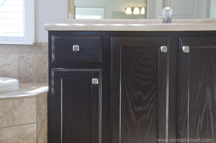 How To Stain Oak Cabinets The Simple Method No Sanding Necessary Via Make It And Love It