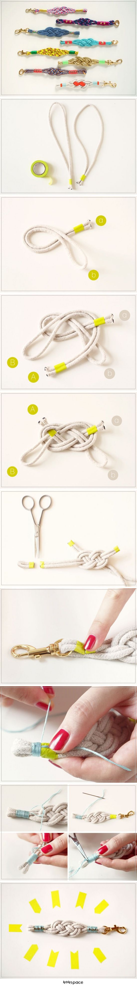 How-Tuesday: Nautical Knot Bracelets  열쇠고리 만들기 DIY
