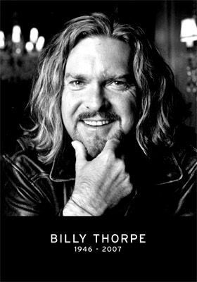 Australian singer Billy Thorpe--RIP Billy. One of the all time Aussie greats.