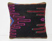 tribal pillow striped throw pillow bohemian pillow contemporary cushion knit pillow 16 primitive decor embroidered pillow 28153 kilim pillow