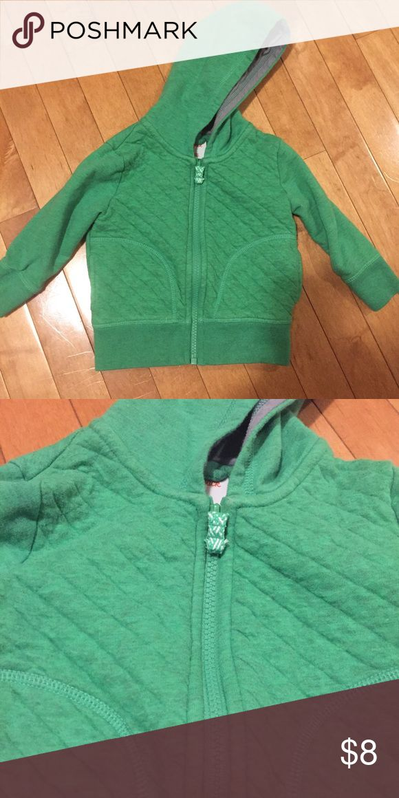 NWOT Cat & Jack 12 Month Green Zip Up Hoodie Washed but never worn - Size 12 Months Cat & Jack Shirts & Tops Sweatshirts & Hoodies
