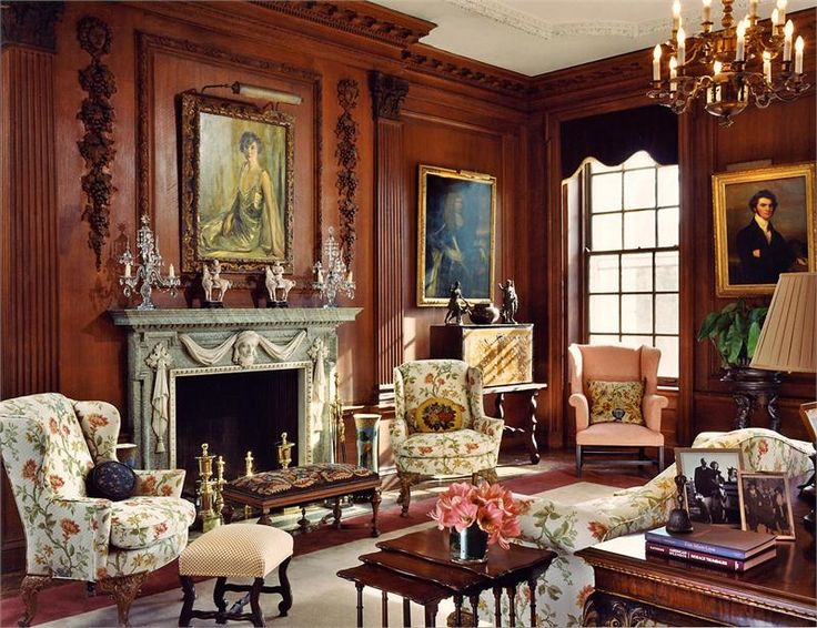 Elegant traditional living family room by barbara for Victorian themed house