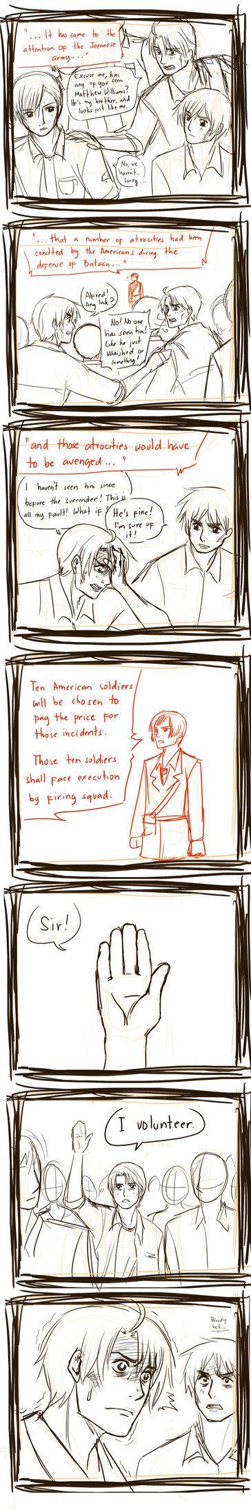 "APH line up Random Comics - Price by randomsketchez on DeviantArt... The best comment on this was, ""Matthew Noo! Katnis was American!"" XD"