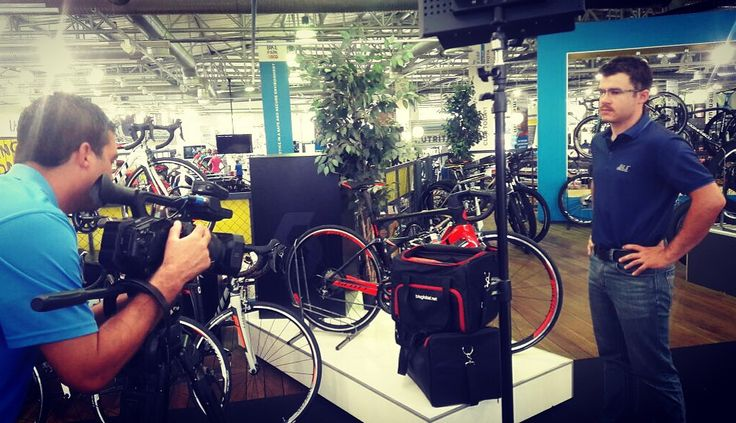 Filming of an insert on SuperCycling
