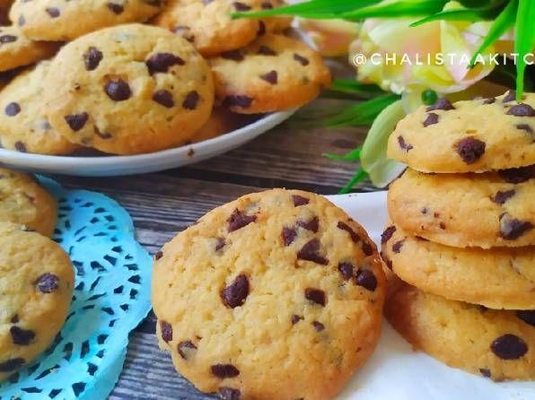 Resep Vanila Chocochip Cookies Oleh Chalistaa Kitchen Resep Kue Coklat Kue Kering Kue Kering Mentega