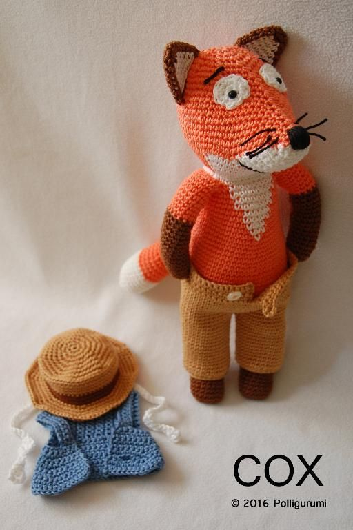 (4) Name: 'Crocheting : COX the fox Amigurumi Pattern