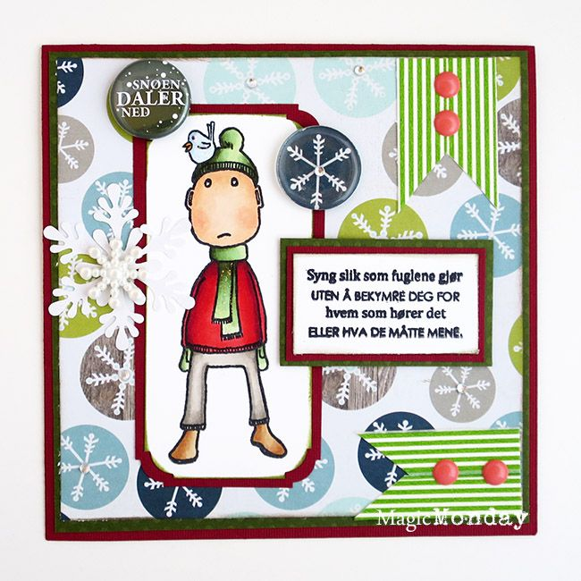 anma.no - Blog - 12 Days of Xmas - Card by guestdesigner Anne. Stamps from MagicMonday.no