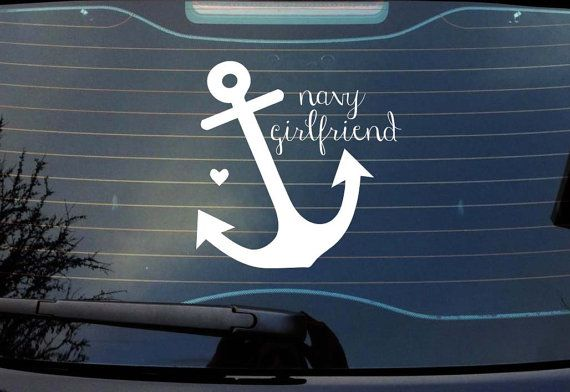 Navy Girlfriend / Wife Vinyl Decal by RebeccaLaneGraphics on etsy. #navy #navygirlfriend #cardecal