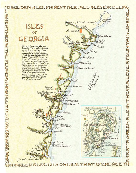 The Best Map Of Georgia Usa Ideas On Pinterest Map Of - Map of georgia usa