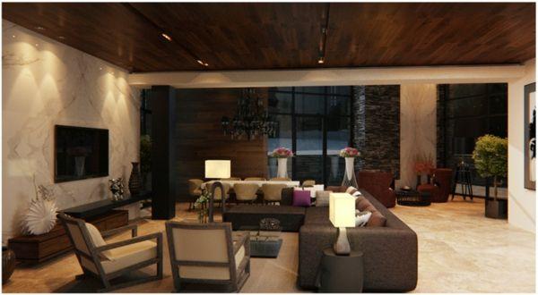 43 prächtige moderne wohnzimmer designs von alexandra fedorova ... - Wohnzimmer Design Braun