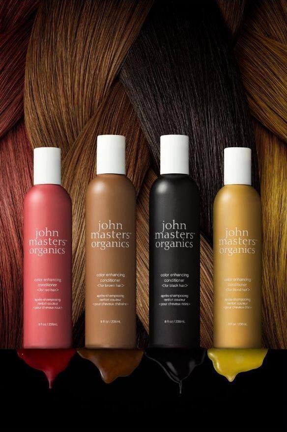 Sono 4 e sono fantastici, perchè oltre ad essere 100% organici rafforzano il colore dei capelli con i migliori pigmenti di derivazione naturale. Sono i Color Enhancing Conditioner di John Masters Organics!