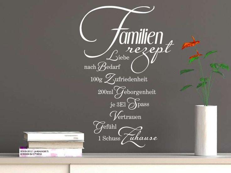 Wandtattoo Familienrezept