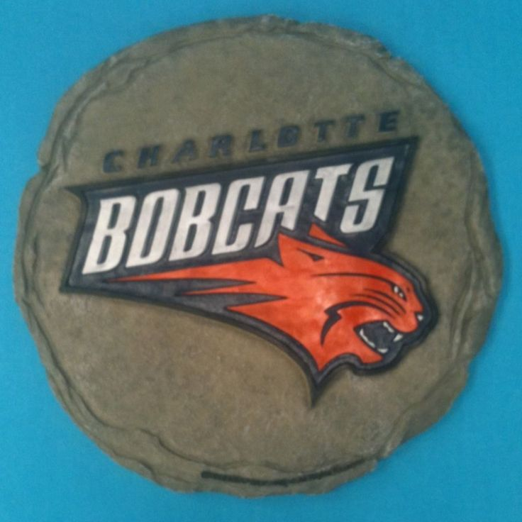 Charlotte bobcats nba stepping stone / wall plaque. Each Order Comes With 3 Stepping Stones. This is an officially licensed product of the (NBA) national basketball association.