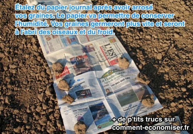 Avec notre astuce, vous allez pouvoir semer des graines en limitant au maximum les risques des nuisibles et du mauvais temps.  Découvrez l'astuce ici : http://www.comment-economiser.fr/faire-germer-graines-jardins.html?utm_content=bufferae88e&utm_medium=social&utm_source=pinterest.com&utm_campaign=buffer