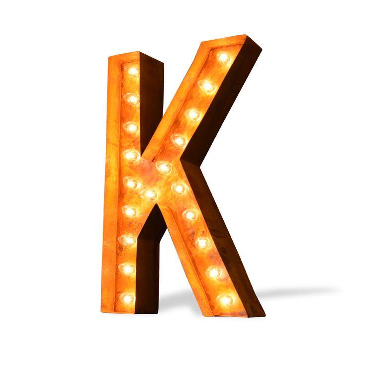 """24"""" Letter K Lighted Vintage Marquee Letters (Modern Font ..."""