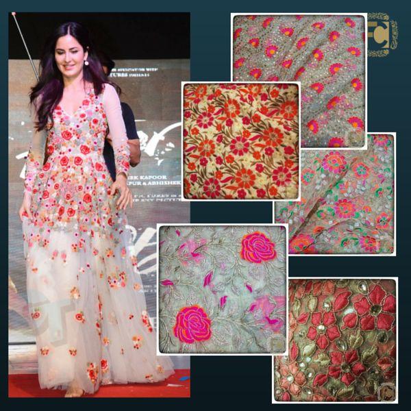 #katrinakaif #fitoor #designercollection #floralcollection #embroidered #netfabric #designerfabric #makeinindia