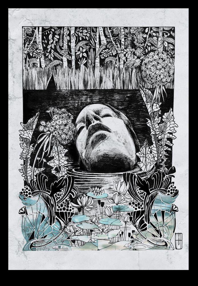 """""""Marsh"""" Ilustración de Martillo-ink-"""