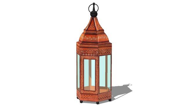 lanterne CARAVANE orange, maisons du monde, ref 122539 prix 69€ - 3D Warehouse