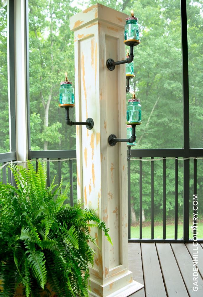 Here's everything you need to build this stunning Aged Pillar Lantern  Stand. I used simple supplies from my local home improvement store and  Walmart to build…