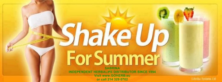 ShaPe up, shaKe up for summer with Herbalife! SHOP ONLINE NOW!  Fast and easy payment  Click here: https://www.goherbalife.com/goherb/ SABRINA  INDEPENDENT HERBALIFE DISTRIBUTOR SINCE 1994  Helping you enjoy a healthy, active and successful life!  Empowering You To Change  https://www.goherbalife.com/goherb/  http://dallas.goherb.eu/ Call USA: +12143290702