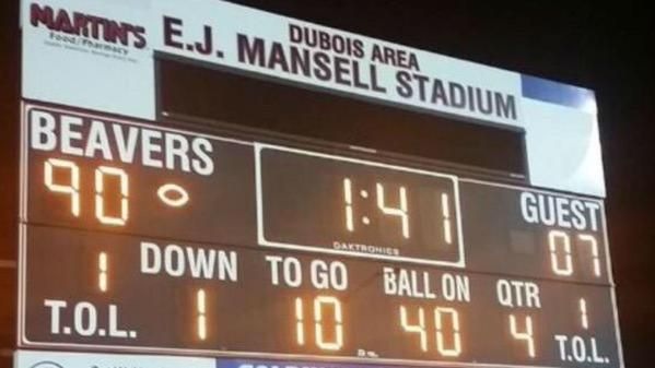 SO MUCH OFFENSE.  Two HS football teams combined for 197 points in a single game. http://www.sportingnews.com/ncaa-football/story/2015-09-12/meadville-dubois-high-school-football-score-record-pennsylvania?eadid=SOC/Twi/SNMain…