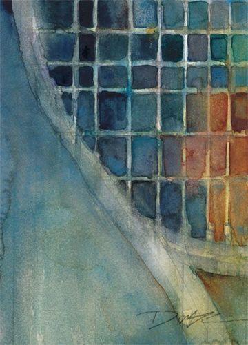Rifkin - Tennis Experiment 5 x 7 Original Watercolor