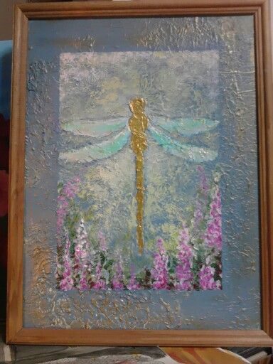 Collage, dragonfly