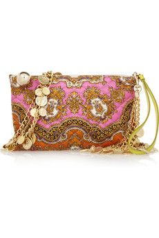 D & G Printed Quilted Silk Twill Clutch <3