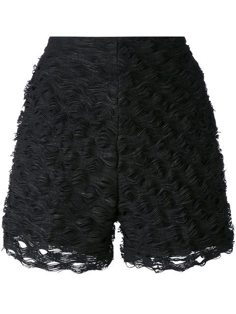 Shop Federica Tosi textured wave shorts.
