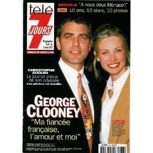 """George Clooney : """"Ma fiancée française, l'amour et moi"""", dans Télé 7 jours (n°1918) du 01/03/1997 [couverture et article mis en vente par Presse-Mémoire]"""